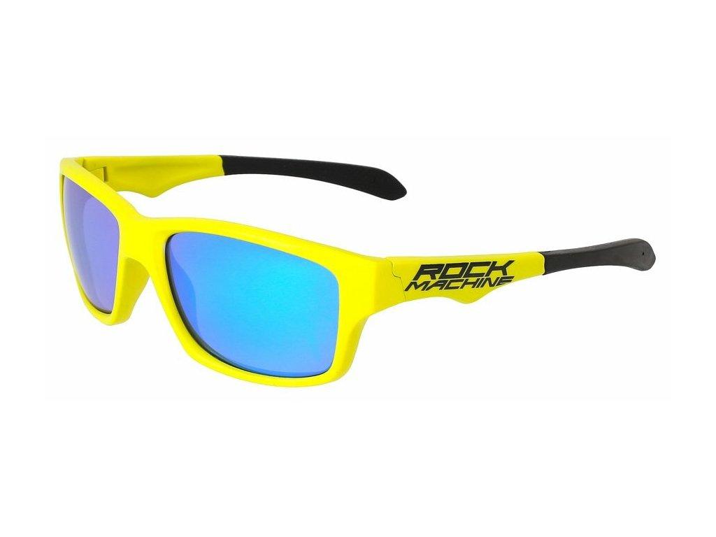 Rock Machine brýle Peak, zeleno/žluté