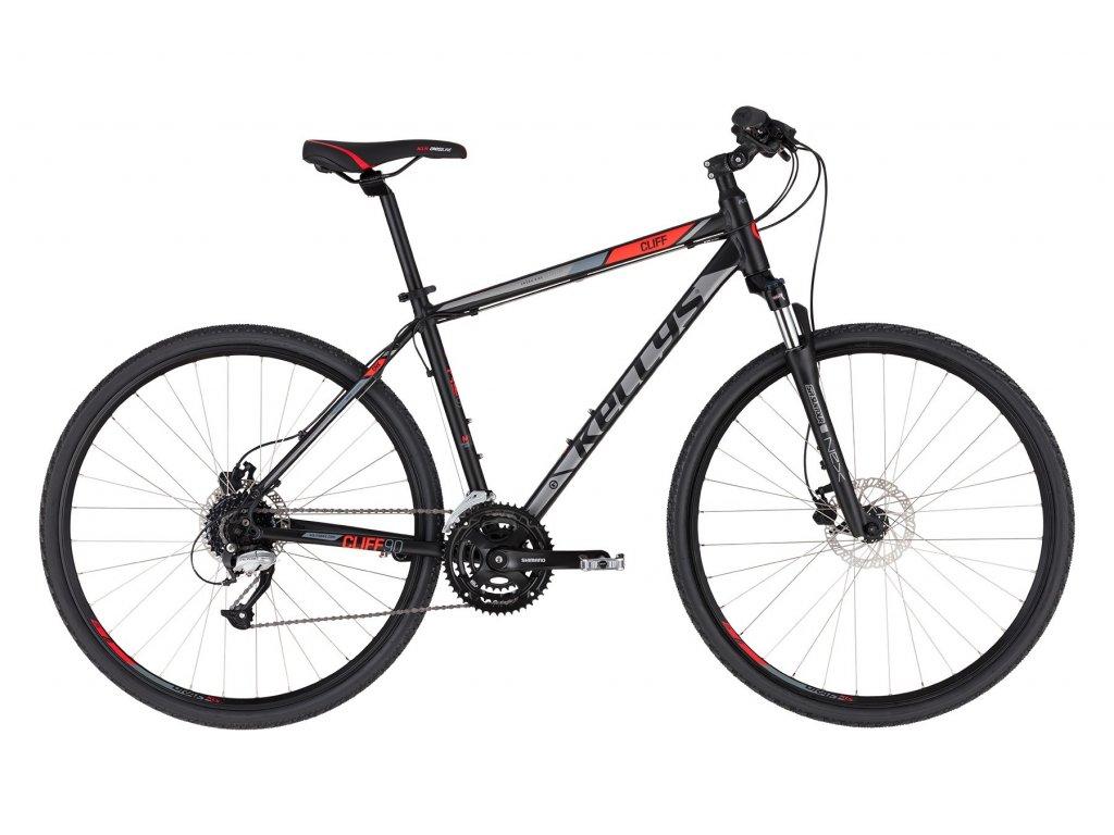 Krosové kolo Kellys CLIFF 90 - black red - model 2021 | CykloWorld.eu