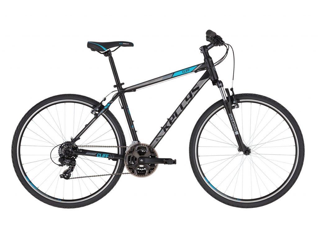 Krosové kolo Kellys CLIFF 10 - black blue - model 2021   CykloWorld.eu