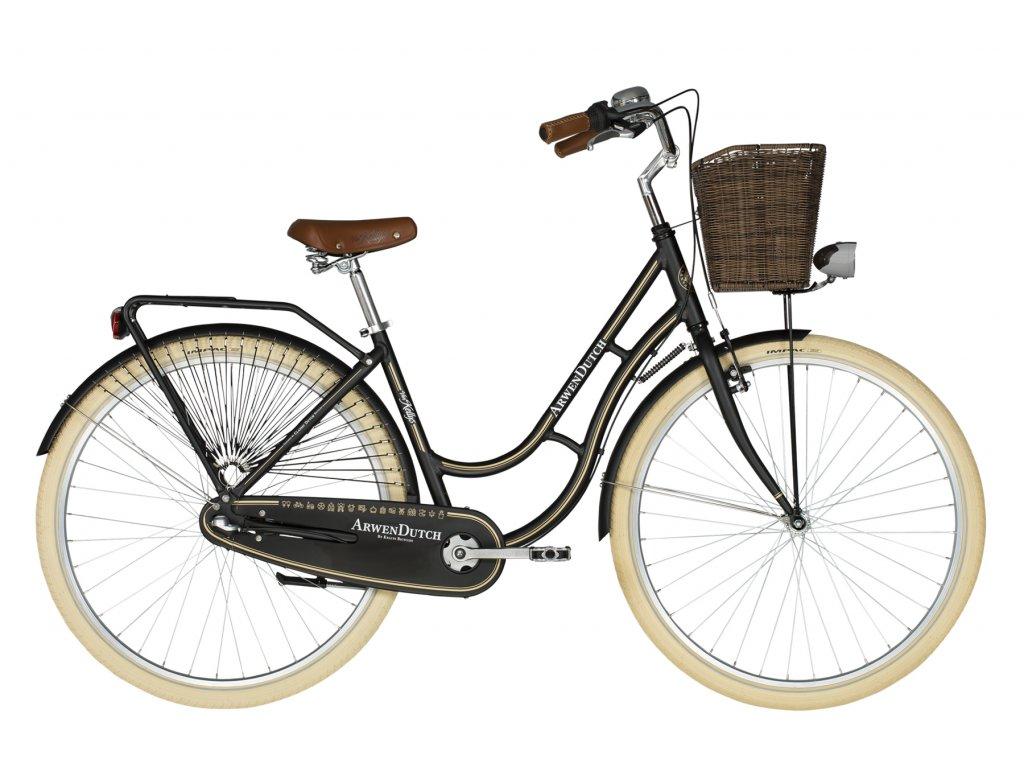 Retro kolo s nízkým nástupem Kellys ARWEN DUTCH - black - model 2021 | CykloWorld.eu
