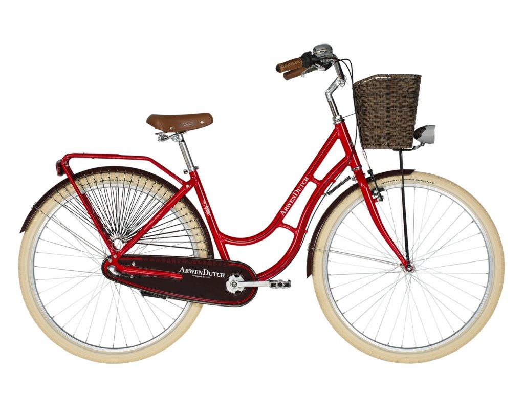 Retro kolo s nízkým nástupem Kellys ARWEN DUTCH - red - model 2021 | CykloWorld.eu