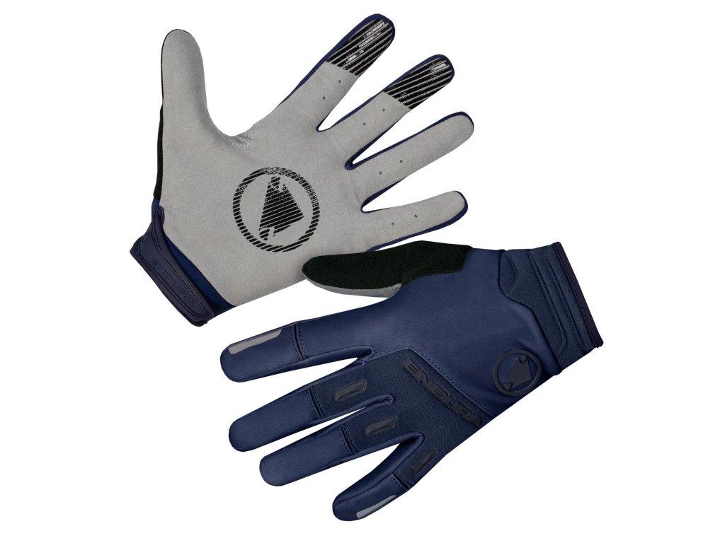 Větru odolné rukavice Endura SingleTrack - modrá námořnická - E1184NA | CykloWorld.eu