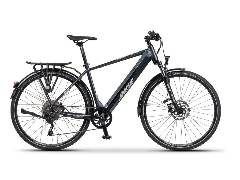 Trekové elektrokolo Apache MATTO TOUR E3 (tmavě šedá) - model 2021   CykloWorld.eu