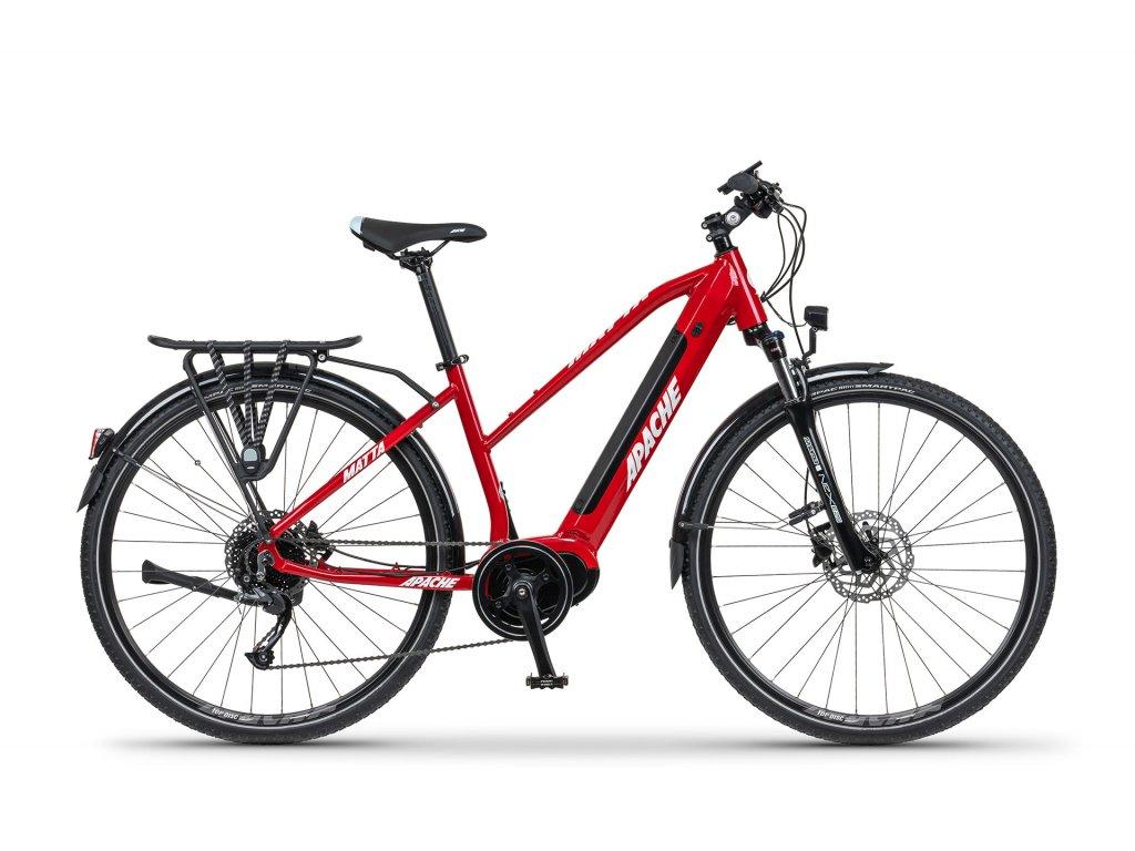 Dámské trekové elektrokolo Apache MATTA TOUR MX5 (červená) - model 2021   CykloWorld.eu
