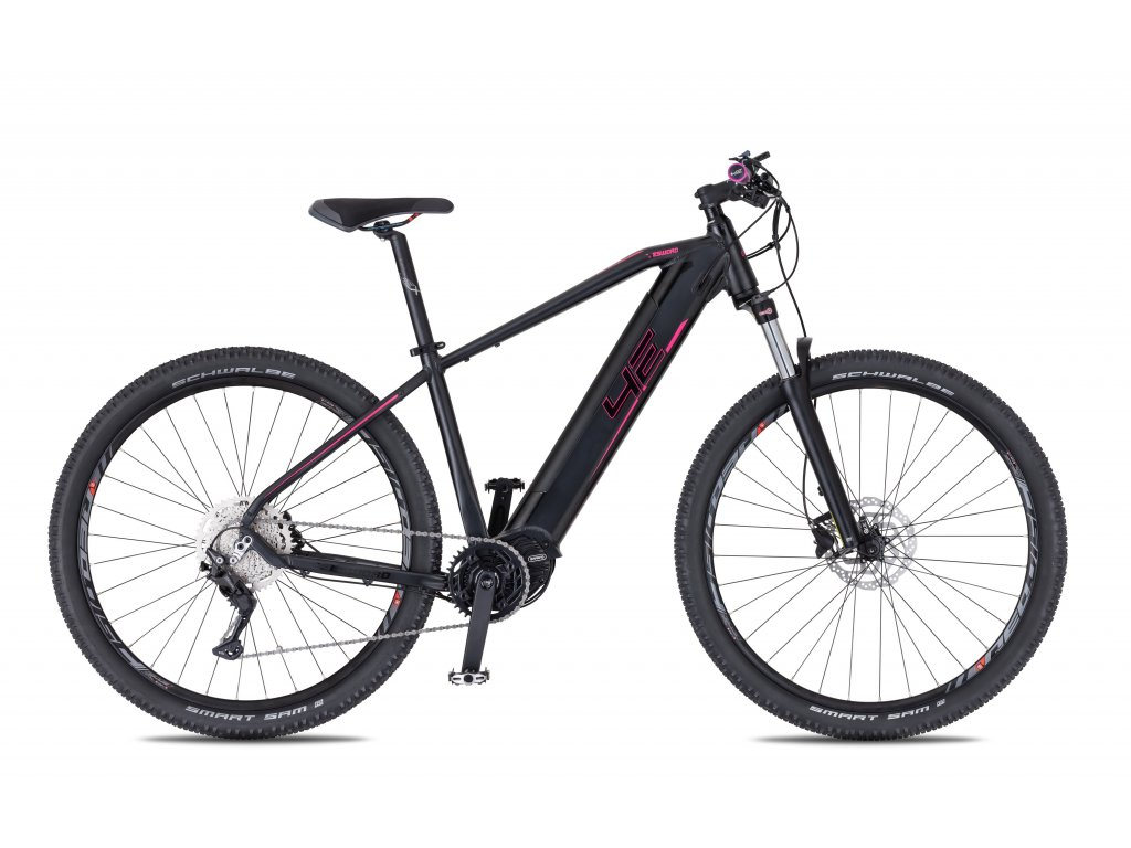 Horské elektrokolo 4Ever Esword Sport Lady - černá/růžová - model 2021   CykloWorld.eu