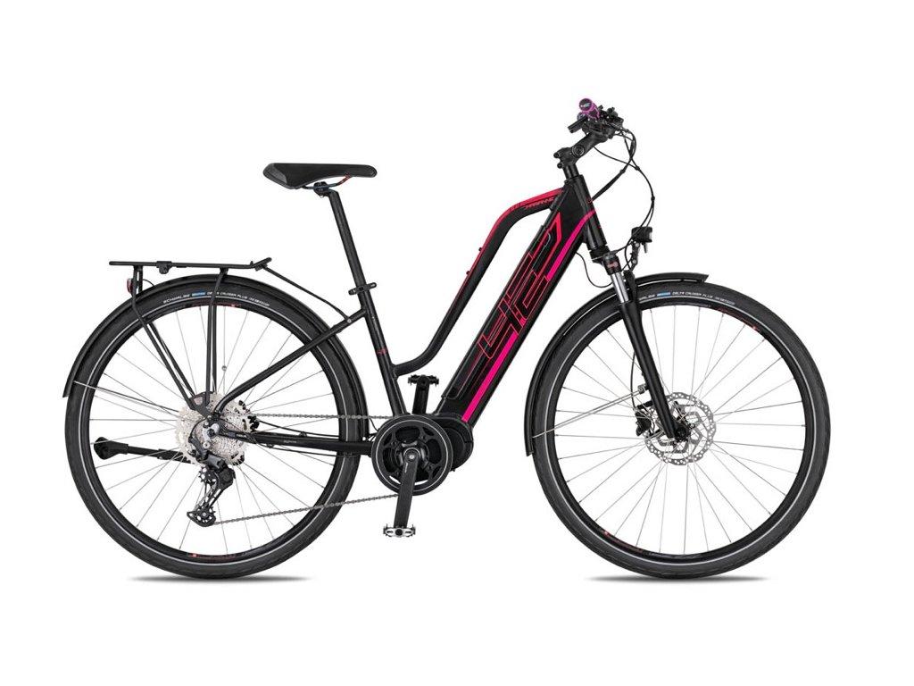 Dámské trekové elektrokolo 4Ever Marianne Sport Trek - černá/růžová - model 2021   CykloWorld.eu