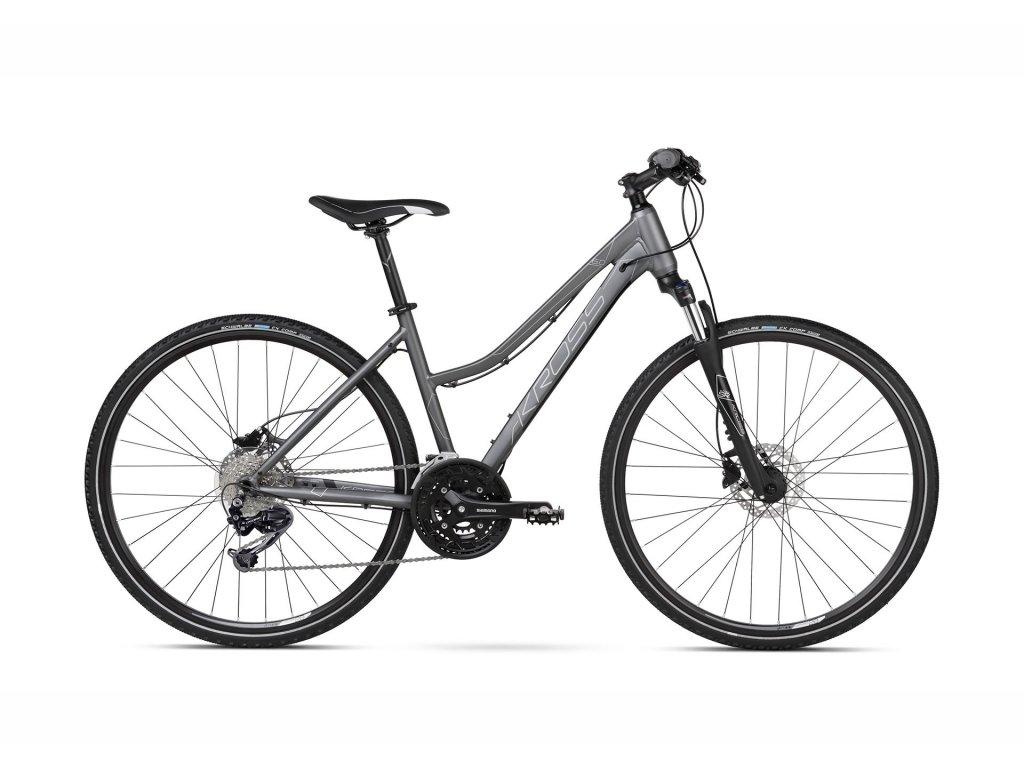 Trekové / krosové kolo Kross EVADO 6.0 SR LADY - graphite/black - model 2021   CykloWorld.eu