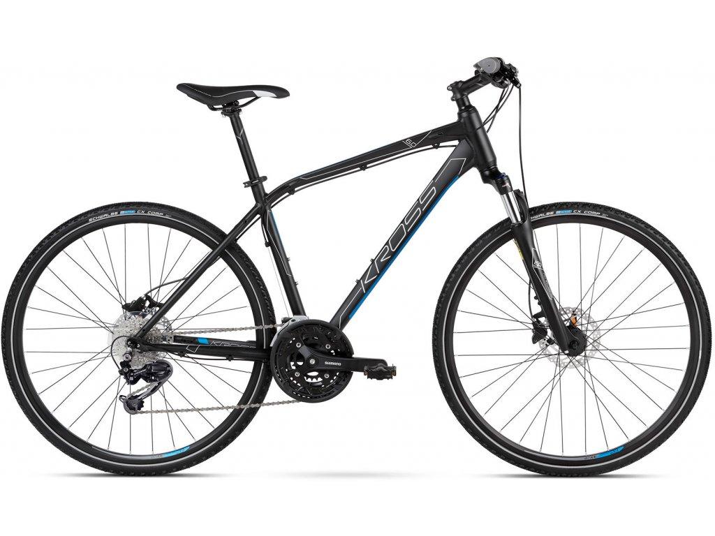 Trekové / krosové kolo Kross EVADO 6.0 SR - black/blue - model 2021 | CykloWorld.eu