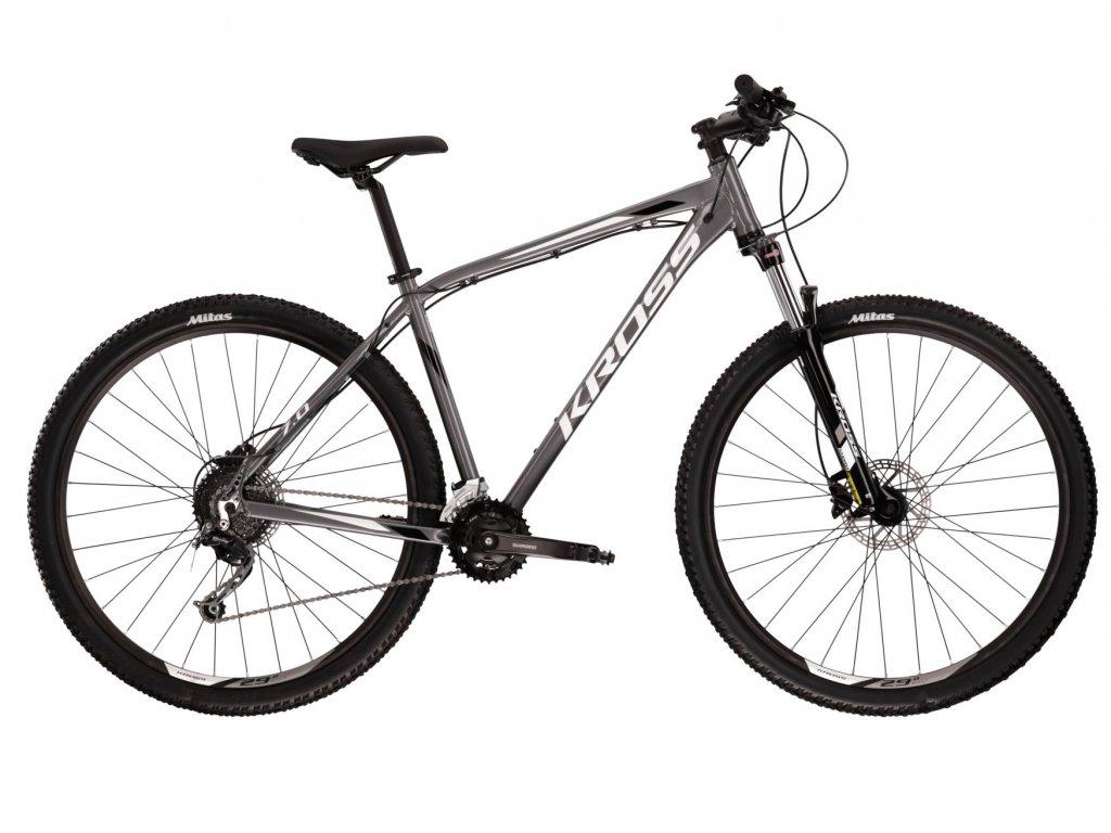 Horské kolo Kross HEXAGON 7.0 SR - black/graphite/blue - model 2021 | CykloWorld.eu