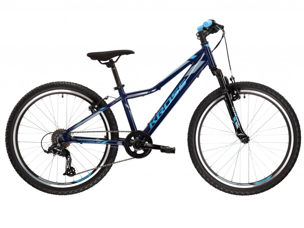 "Dětské kolo 24"" (9 - 12 let) Kross HEXAGON JR 1.0 SR (navy blue/blue/steel) - navy blue/blue/steel - model 2021 | CykloWorld.eu"