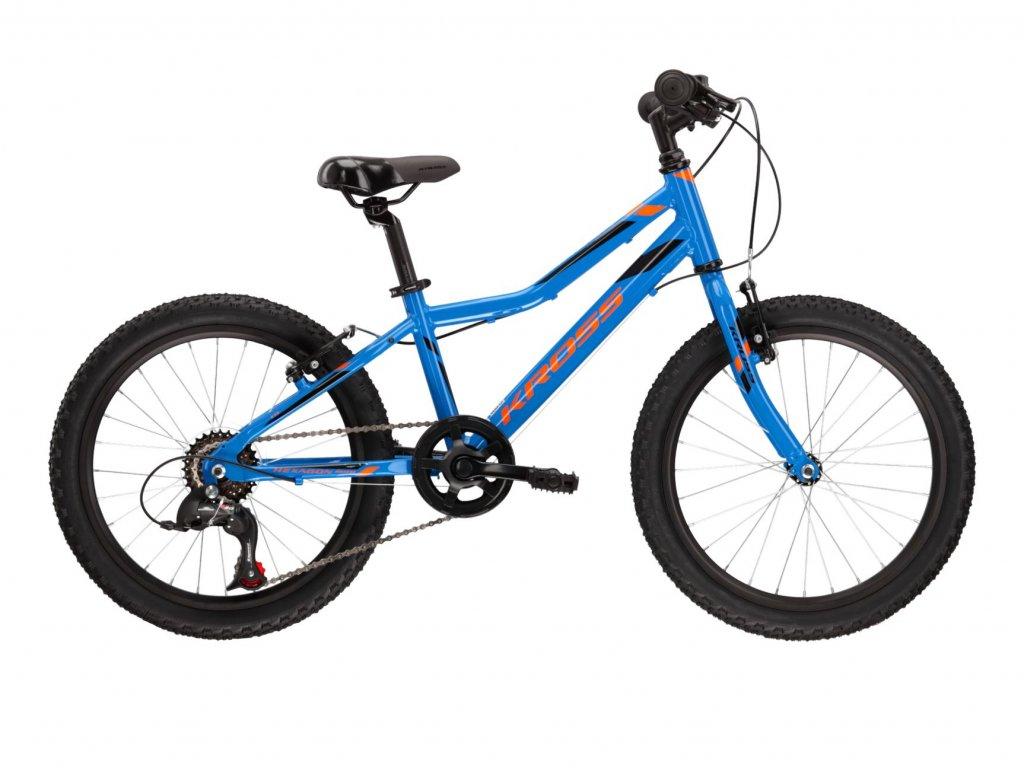 """Dětské kolo 20"""" (6 - 9 let) Kross HEXAGON MINI 1.0 SR (blue/orange) - blue/orange - model 2021   CykloWorld.eu"""