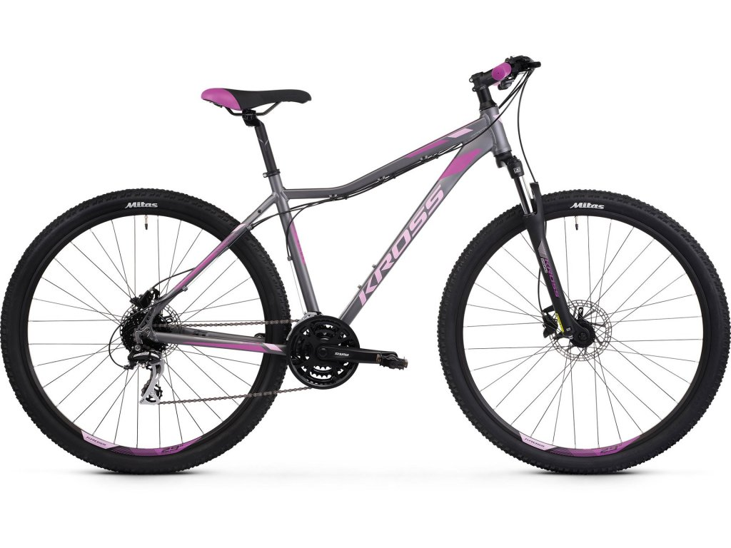 Horské kolo Kross LEA 5.0 SR (graphite/pink/violet) - graphite/pink/violet - model 2021   CykloWorld.eu
