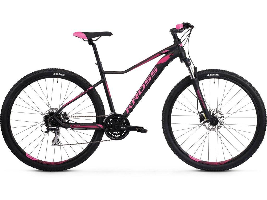 Horské kolo Kross LEA 6.0 SR - black/pink - model 2021 | CykloWorld.eu