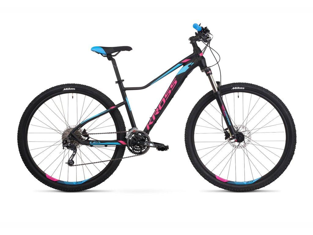 Horské kolo Kross LEA 8.0 SR - black/pink/blue - model 2021 | CykloWorld.eu