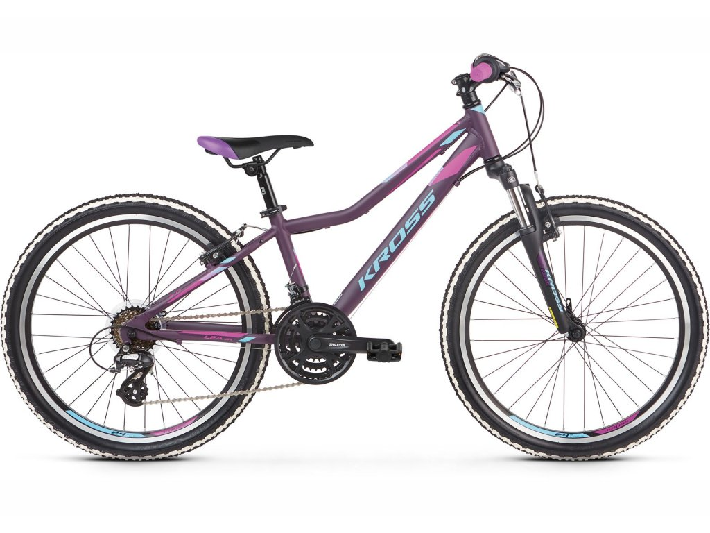"""Dětské kolo 24"""" (9 - 12 let) Kross LEA JR 2.0 SR (violet/blue) - violet/blue - model 2021   CykloWorld.eu"""