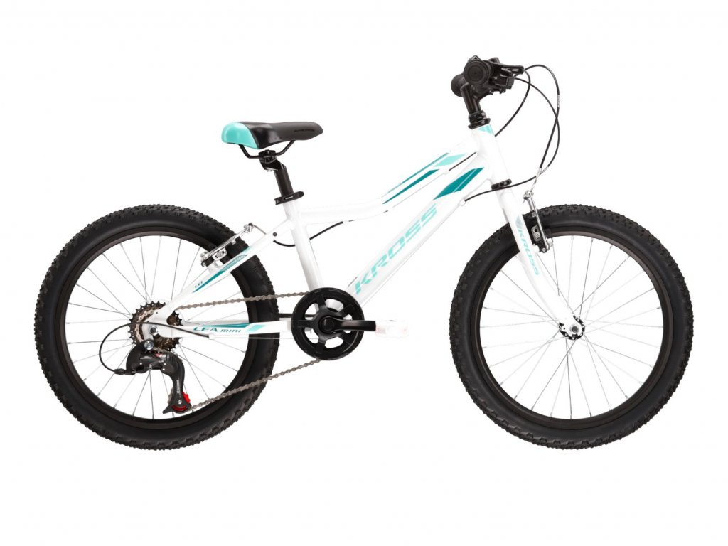 "Dětské kolo 20"" (6 - 9 let) Kross LEA MINI 1.0 SR (white/turquoise) - white/turquoise - model 2021 | CykloWorld.eu"