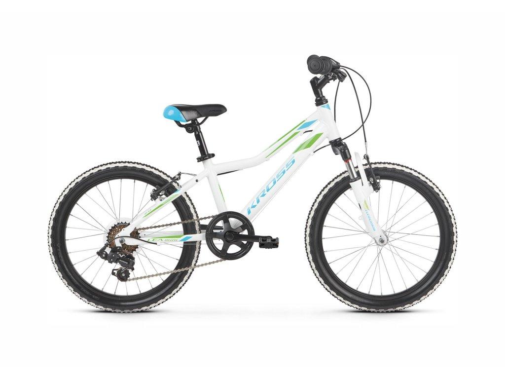"Dětské kolo 20"" (6 - 9 let) Kross LEA MINI 2.0 SR (white/blue/green) - white/blue/green - model 2021 | CykloWorld.eu"