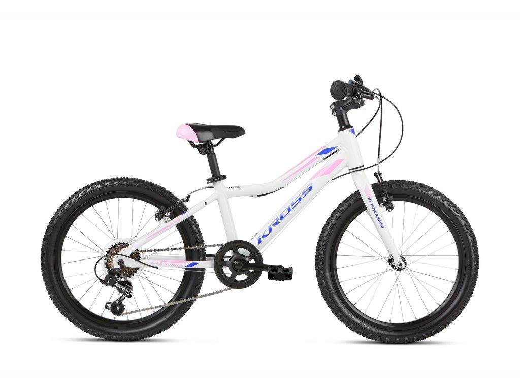 """Dětské kolo 20"""" (6 - 9 let) Kross LEA MINI 3.0 LIGHT SR  - white/pink/violet - model 2021   CykloWorld.eu"""