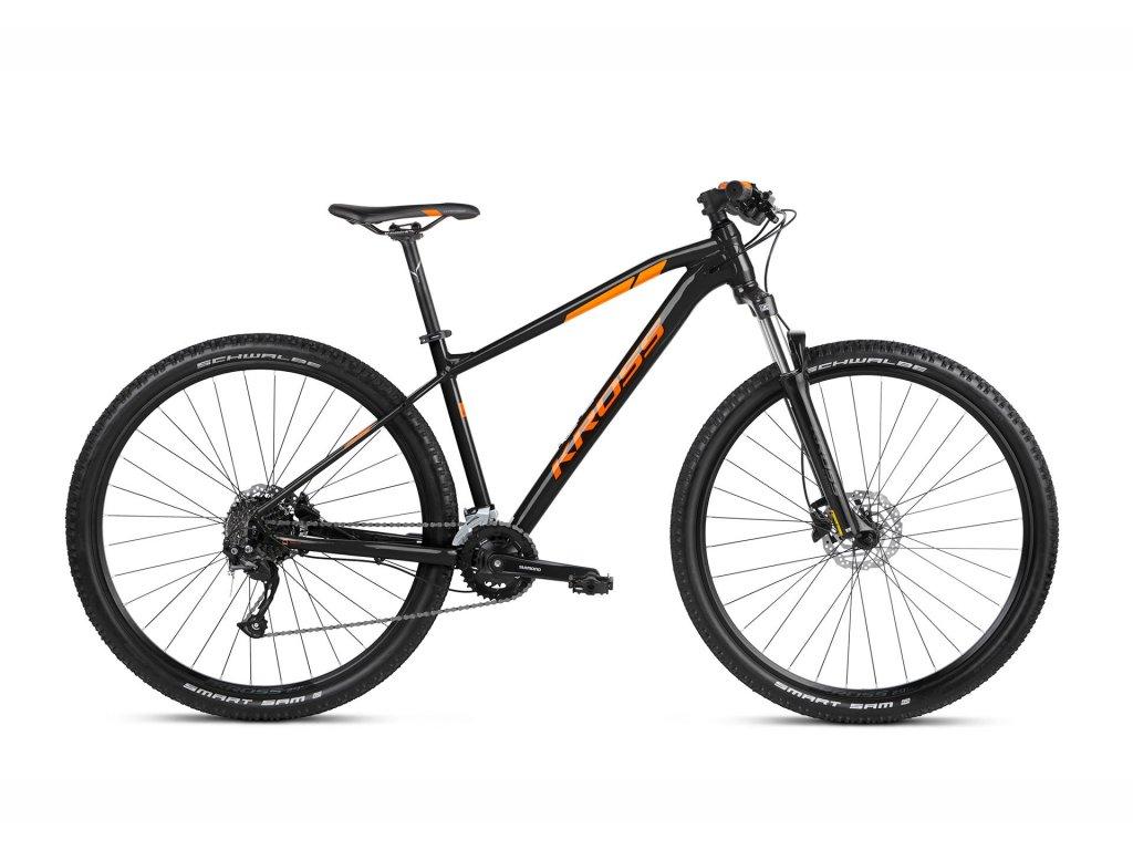 Horské kolo Kross LEVEL 1.0 SR (black/orange) - black/orange - model 2021   CykloWorld.eu