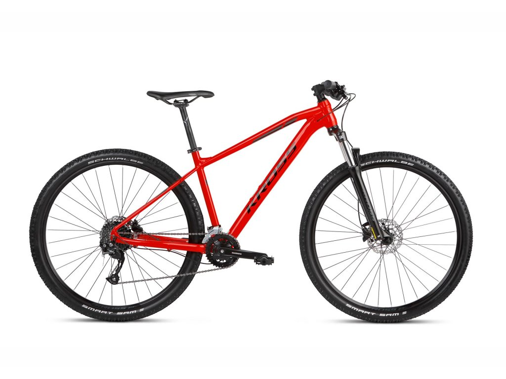 Horské kolo Kross LEVEL 1.0 SR (red/black) - red/black - model 2021   CykloWorld.eu