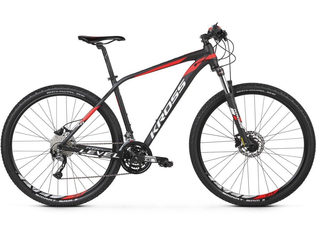 Horské kolo Kross LEVEL 3.0 (black/red/white) - black/red/white - model 2021   CykloWorld.eu