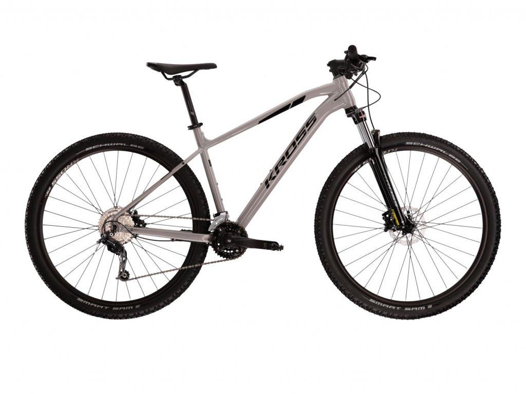 Horské kolo Kross LEVEL 3.0 (grey/black) - grey/black - model 2021   CykloWorld.eu