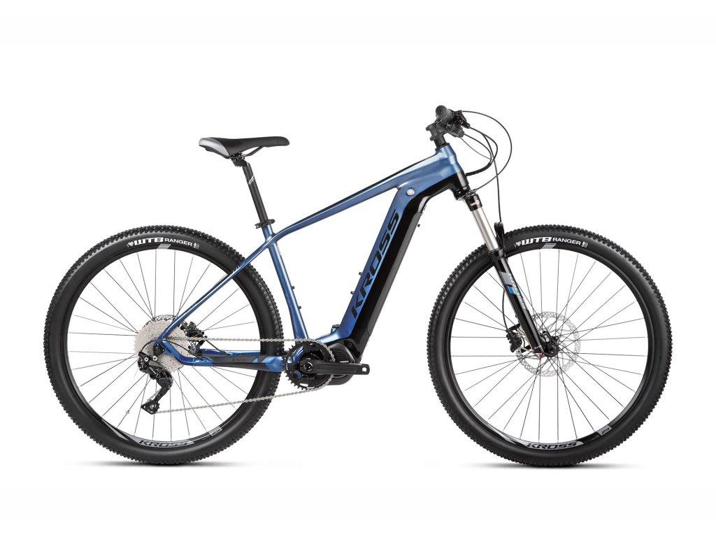 Horské elektrokolo Kross LEVEL BOOST 2.0 504 - blue/black - model 2021   CykloWorld.eu