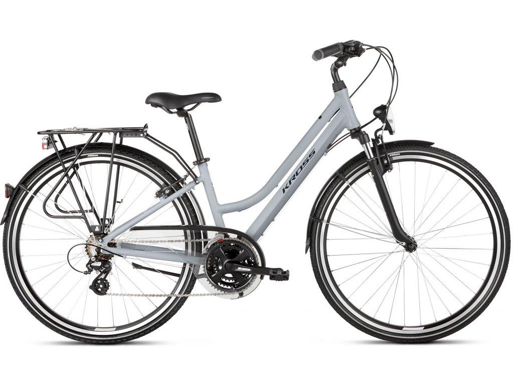 Trekové / krosové kolo Kross TRANS 2.0 SR LADY (Grey/black) - grey/black - model 2021 | CykloWorld.eu
