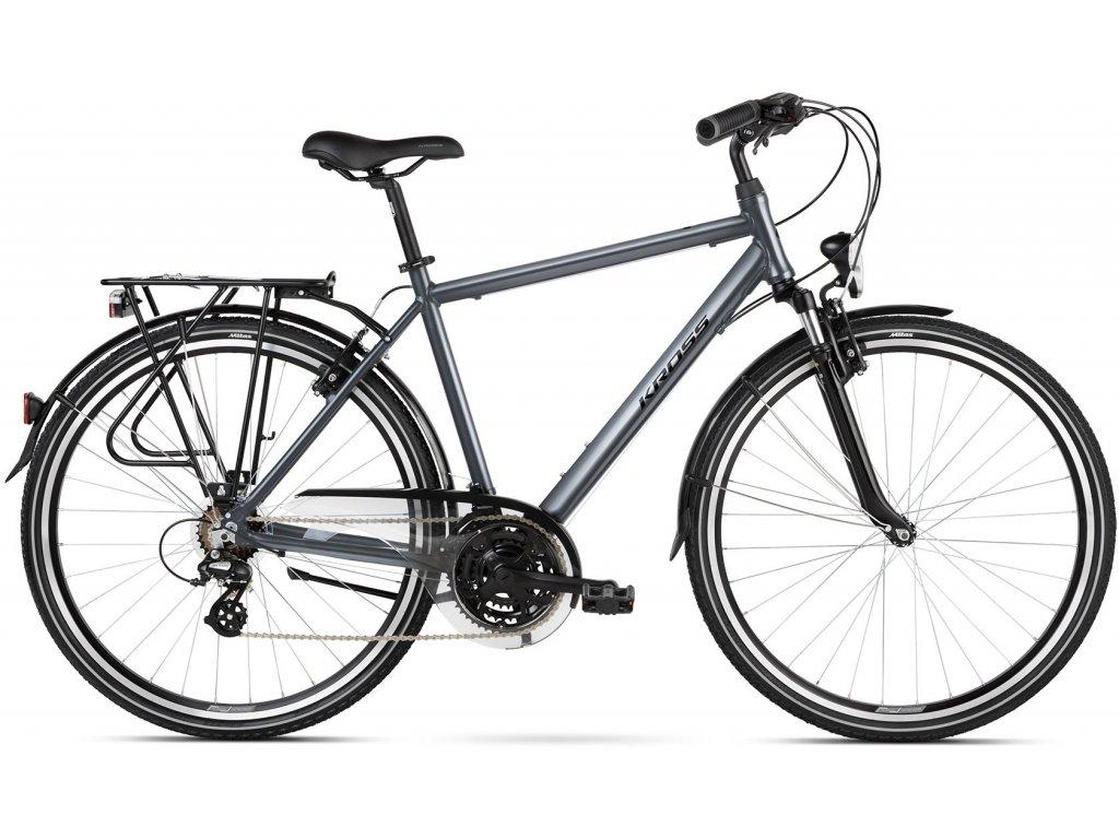 Trekové / krosové kolo Kross TRANS 2.0 SR (grey/black) - grey/black - model 2021 | CykloWorld.eu