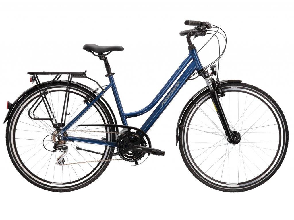 Trekové / krosové kolo Kross TRANS 3.0 LADY (blue/grey) - blue/grey - model 2021   CykloWorld.eu