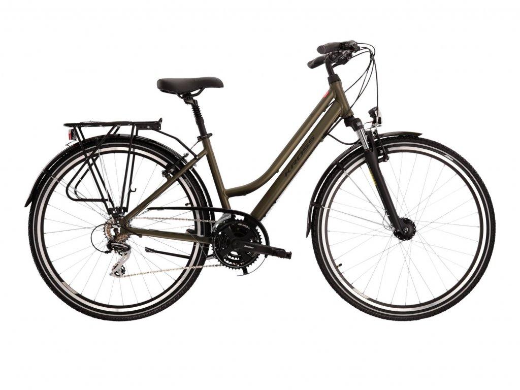 Trekové / krosové kolo Kross TRANS 3.0 LADY (khaki/black) - khaki/black - model 2021 | CykloWorld.eu