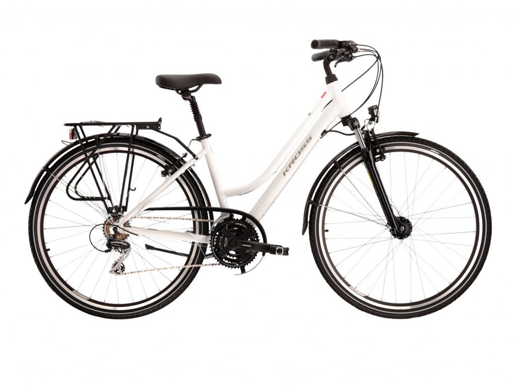 Trekové / krosové kolo Kross TRANS 3.0 LADY (white/grey) - white/grey - model 2021 | CykloWorld.eu