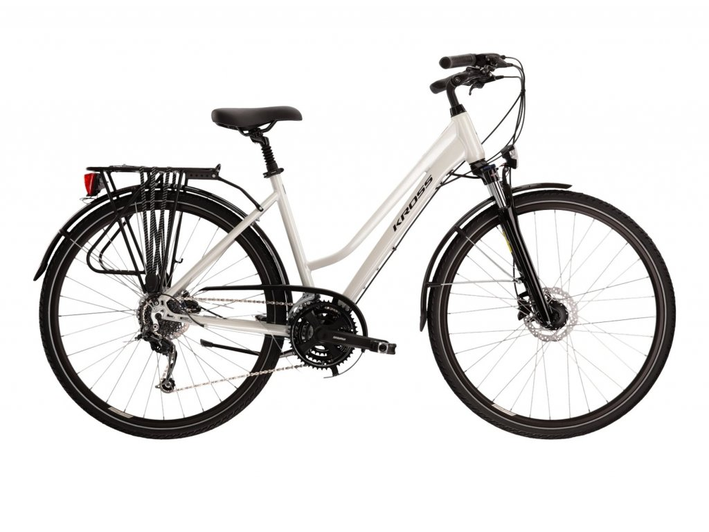 Trekové / krosové kolo Kross TRANS 5.0 LADY (pearl/black) - pearl/black - model 2021   CykloWorld.eu