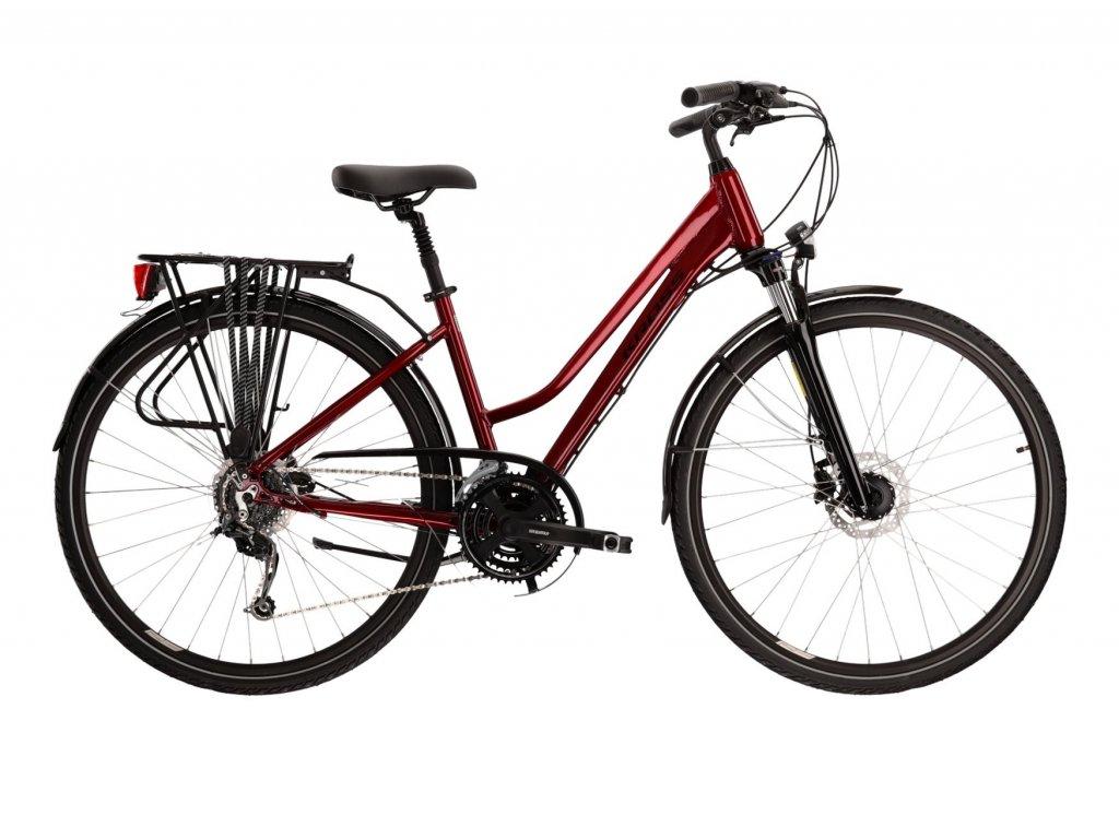 Trekové / krosové kolo Kross TRANS 5.0 LADY (ruby/black) - ruby/black - model 2021 | CykloWorld.eu