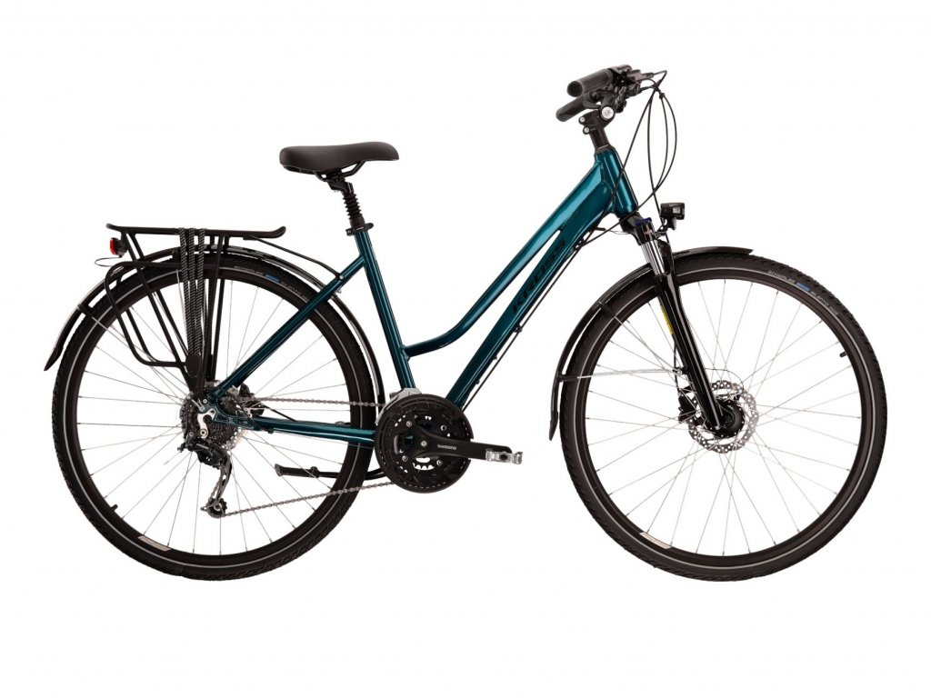 Trekové / krosové kolo Kross TRANS 8.0 LADY - turquoise/black - model 2021   CykloWorld.eu