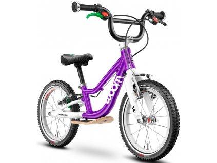 Lehké hliníkové odrážedlo  WOOM 1 Plus - purple haze - model 2021