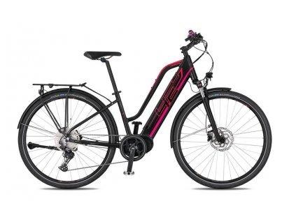 Dámské trekové elektrokolo 4Ever Marianne Sport Trek - černá/růžová - model 2021 | CykloWorld.eu