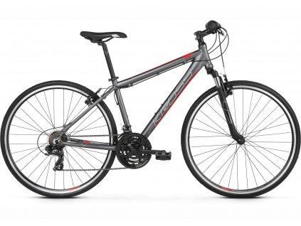 Trekové / krosové kolo Kross EVADO 1.0 (graphite/red) - graphite/red - model 2021 | CykloWorld.eu