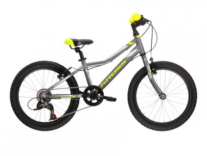 "Dětské kolo 20"" (6 - 9 let) Kross HEXAGON MINI 1.0 SR (graphite/lime/silver) - graphite/lime/silver - model 2021   CykloWorld.eu"