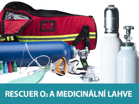 Rescuer a medicinální lahve