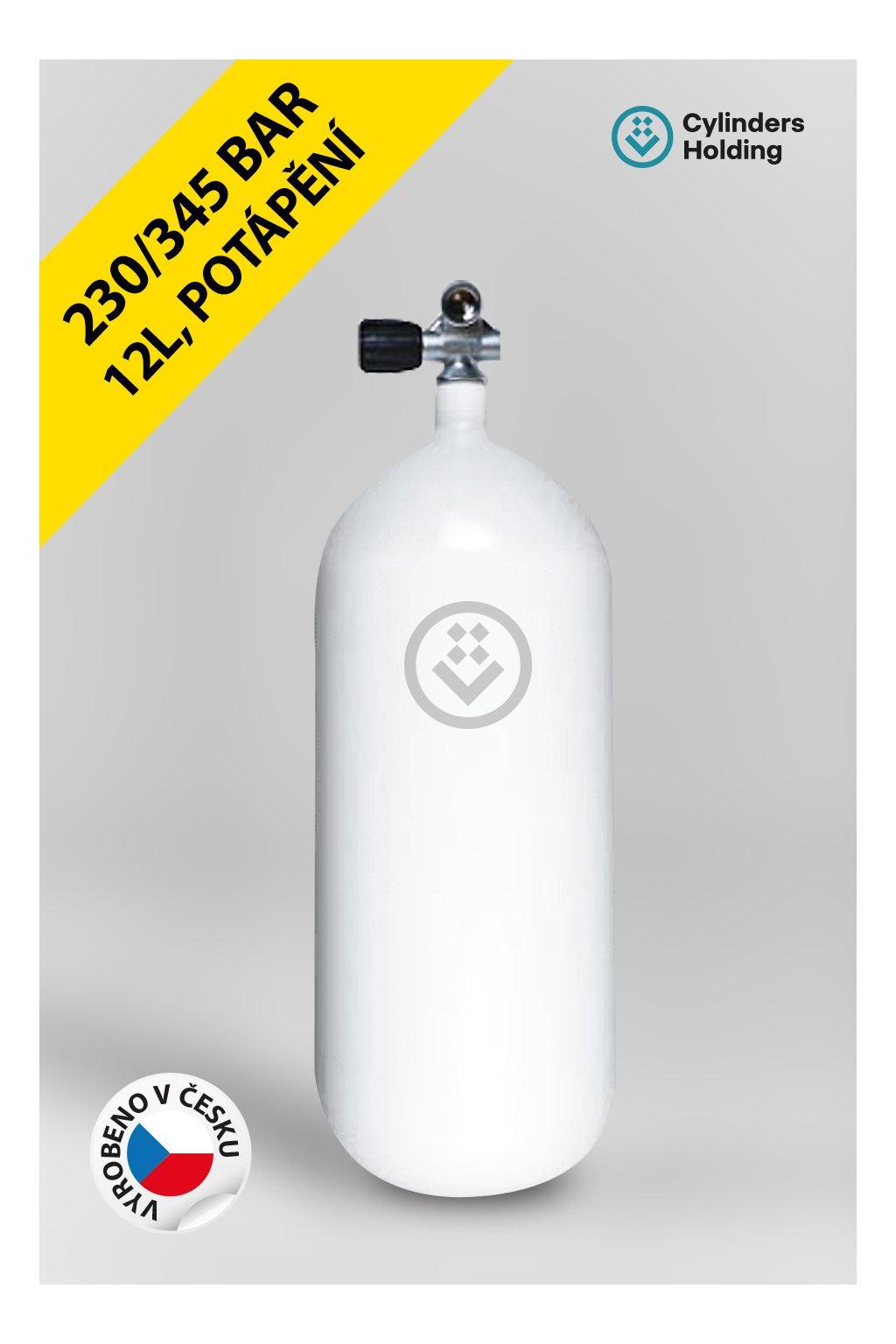 profilovka 12L potápěčská lahev 204mm