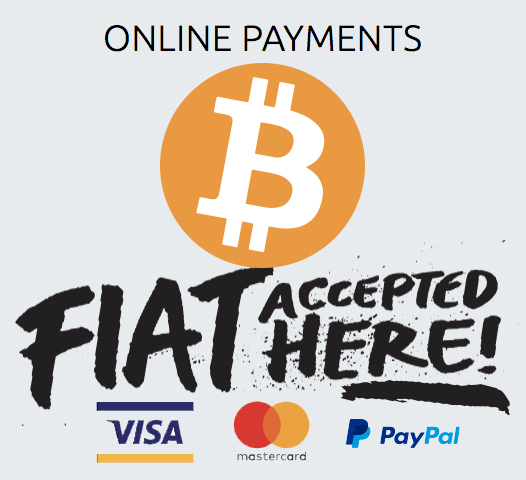 Online payments BTC - VISA - MASTER CARD - PAYPAL