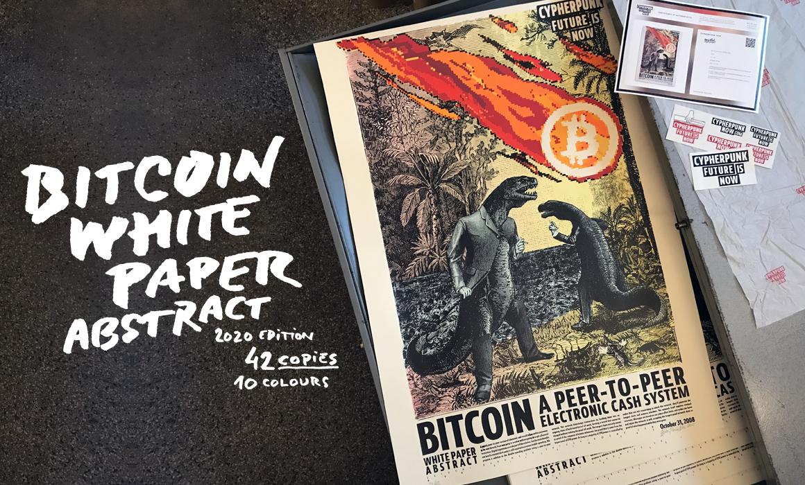 Bitcoin White Paper Artwork