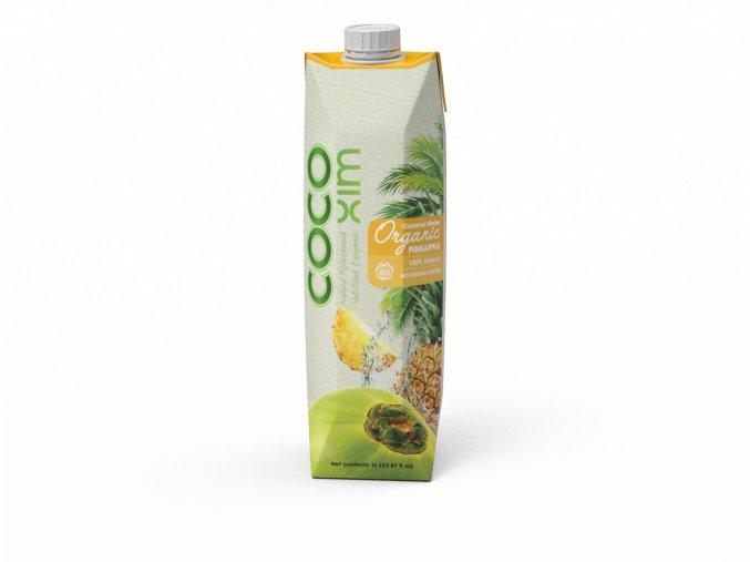COCOXIM Kokosová voda ORGANIC ANANAS 1 000 ml