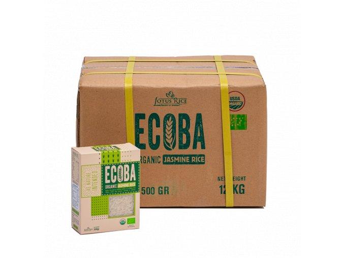Jasmínová rýže bílá 500g karton produkt