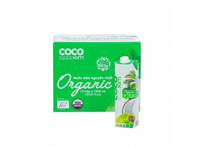 Cocoxim kokosová voda organic 1000ml kartonsproduktem