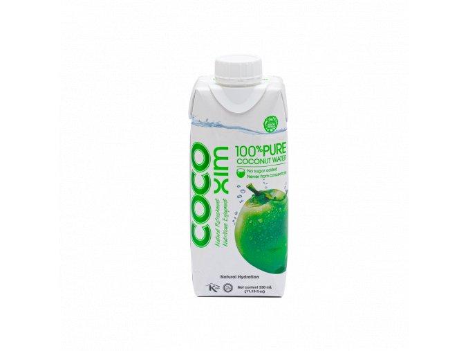 Cocoxim kokosová voda 100%pure 330ml titul