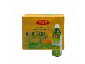 TAVGT5 8712857010706 TOP Aloe Vera Green Tea 500ml karton
