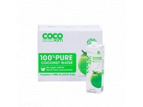 Cocoxim kokosová voda 100%pure 1000ml kartonsproduktem