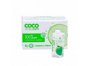 Cocoxim kokosová voda 100%pure 330ml kartonprodukt